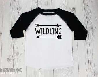 Wildling Game of Thrones Toddler or Baby Raglan Baseball Tee