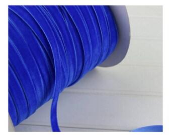 beautiful ribbon Royal Blue Velvet 10 mm wide, 1 meter