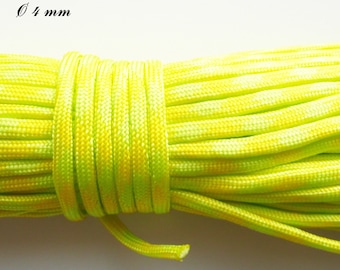 Cord / 550 Paracord 4 mm: yellow & neon green