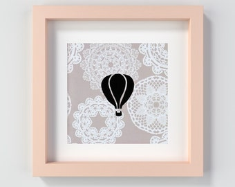 Printable Hot Air Balloon Nursery Art, Hot Air Balloon Child's Room Art, Hot Air Balloon Print, Hot Air Balloon Instant Download, Digital