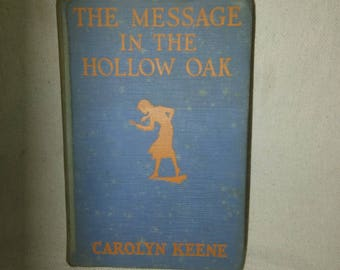 1935 first edition The Message In The Hollow Oak by Carolyn Keene