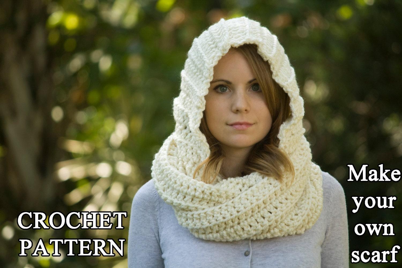 Crochet pattern hooded scarf pattern crochet scoodie instant zoom bankloansurffo Images