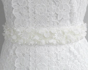 Luxury Bridal Sash, Wedding Sash, Delicate Luxury sash, Sequin Sash, Pearl Sash, Beaded Sash, Flower Sash, Crystal Sash. Style: Aphrodite