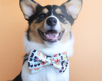 Sushi Dog Bow Tie and Dog Collar