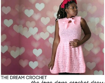 The  Love Dove Crochet Dress Pattern. Instant Download!