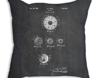 Golf Ball Uniformity Patent Pillow, Golf Gifts for Women, Golf Bedding, Golf Pillow, Vintage Golf, PP0168