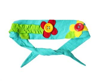 Button Flower Headband
