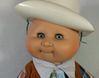 "18"" Tolpatsch Doll in Cowboy outfit made by Zapf of West Germany"