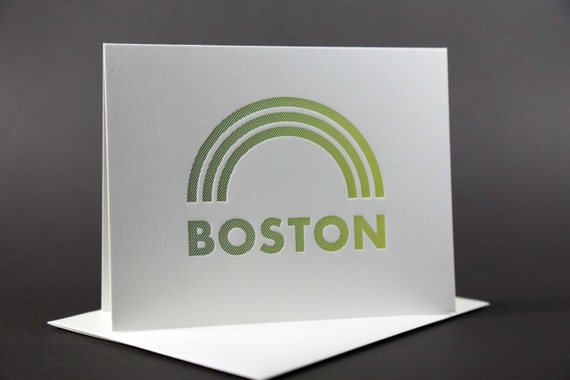 Rainbow Roll: BOSTON Letterpress card