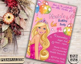 Barbie Invitation / Barbie Birthday / Barbie Party / Barbie Birthday Invitation / Barbie Printable / Barbie Invite