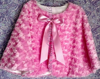 Quinceanera Accessory - Pink  or White Cape, Lined, New