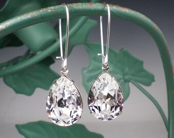 Crystal Rhinestone Earrings Wedding Jewelry Bridesmaid Earrings Swarovski Bridal Jewelry