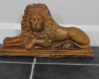 large salt glazed lion