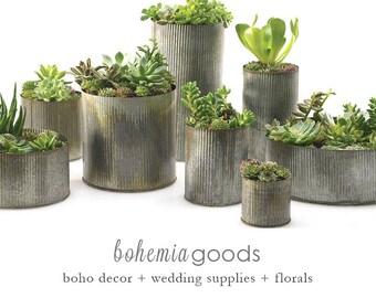 Galvanized planter, large planer, indoor planter, galvanized metal, galvanized, zinc, planter pot, zinc planter, rustic wedding