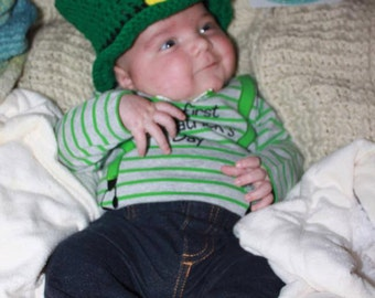 Little Baby Leprechaun Hat PDF Crochet Pattern 358