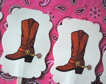 Cowgirl or Cowboy Boot Toppers - Set of 10