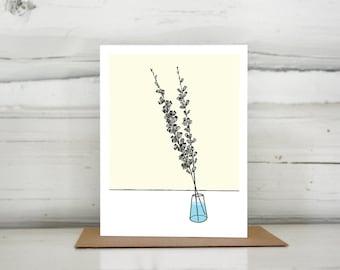 Illustrated Flower Salvia greeting card