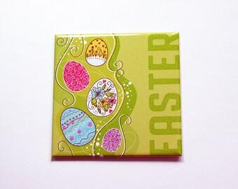 Happy Easter Magnet, Easter Egg Magnet, Magnet, Fridge magnet, Easter Eggs, Easter magnet, green, Easter basket gift, Easter gift (7391)