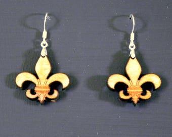 Fleur-de-lis  Wooden Earrings