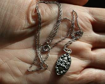 Sterling Victorian Charm Necklace