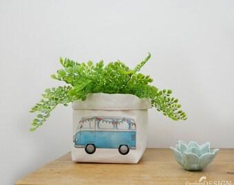 Campervan Canvas Storage Box, Storage Solution, Storage Basket, Fabric Basket, Fabric Organiser, Storage Bin, Nursery Storage, Camper Gift
