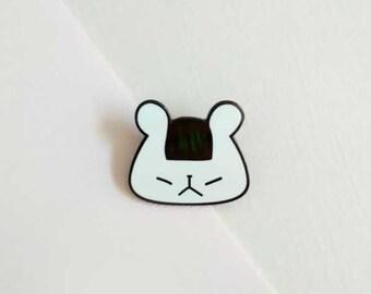 onigiri bear enamel pin