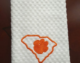 South Carolina Dish Towel- Clemson Tigers Dish Towel-