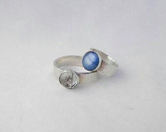 Rutilated Quartz or Kyanite Sterling Silver Ring