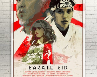 KARATE KID - movie poster / print  - Ralph Macchio, Pat Morita, Daniel Larusso, Miyagi, Elisabeth Shue