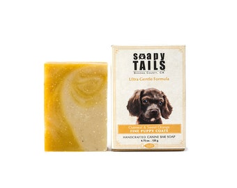 Soapy Tail Puppy Bar Soap ~  Oatmeal and Sweet Orange 4.75 oz - Dog Shampoo Bar Soap