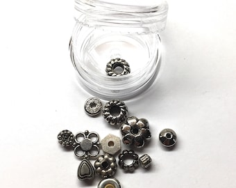 DIY Snap Jewelry: Tiny Found Objects & Beads to Make DIY Snaps with Apoxie Sculpt, Embellishments Mix