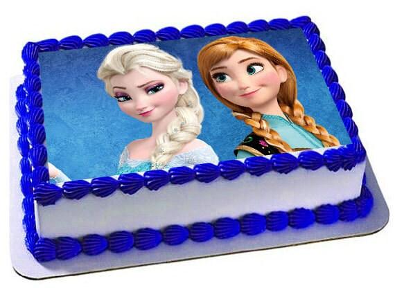Ana Elsa Frozen Edible Cake Topper Frosting Sheet Frozen
