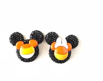 Mickey Candy Corn Pin, Mickey Halloween Pin, Mickey Head, Mickey Ears, Badge, Brooch, Halloween, Mickey Thanksgiving, Fall, Disney Jewelry