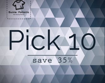 Pick any 10 PDF patterns you like and save 35% on your purchase.