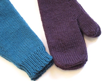 Thumdrum Mittens Knitting Pattern PDF Worsted Weight Womens Mittens Knitting Pattern