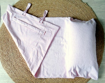 Pink Beach towel with integrated cushion