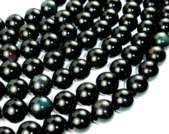 Rainbow Obsidian Beads, Round, 14mm, 15 Inch, Full strand, Approx 28 beads, Hole 1 mm, A quality (366054005)