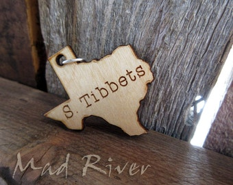 Personalized Wooden State Charm
