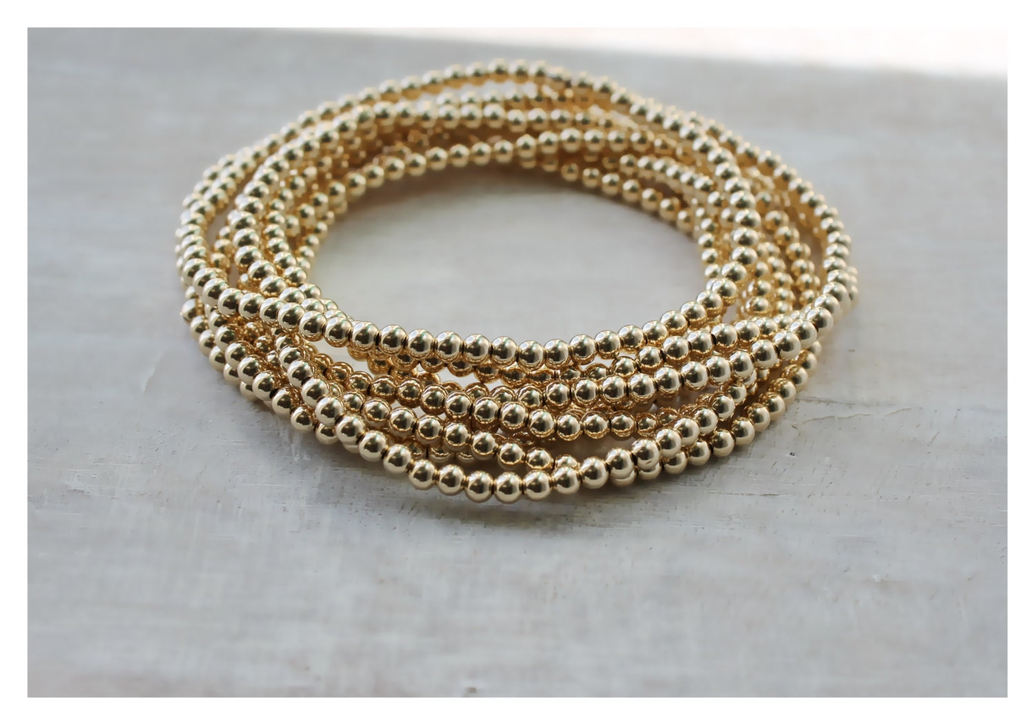 cuff studio products beaded ball gold bracelet nogu