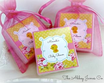 Baby Shower Favors, Baby Girl Shower Favors, Rubber Duck Favors, Soap Favors, set of 10