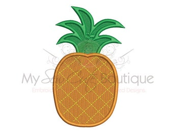 Pineapple Embroidery Design - Machine Embroidery Design - 8 Sizes - Instant Download