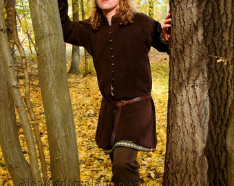 Early Medieval Viking coat, Noble coat  form Birka, Historical Pattern , for Viking Reenactors,