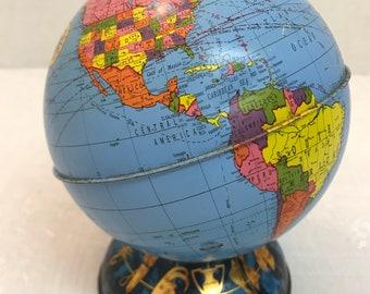 Ohio Art Metal Globe Zodiac Bank