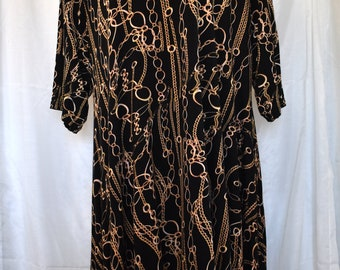 Gold Chains Swing Dress