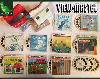 Vintage set of View-Master slides and viewers by Gaf
