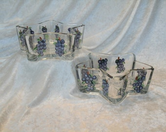 GRAPE CANDY DISHES star shaped set of two