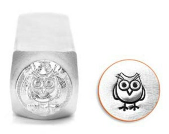 Impress Art 6mm Hootie Owl Metal Design Stamp - Metal Stamp - Metal Stamping and Jewelry Tool - SGSC1513-L-6mm