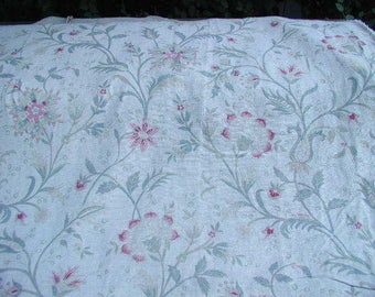 Rachel Ashwell Shabby Chic Grain Belgian Linen Vintage French Floral Fabric from Boutique grainsack By Yard