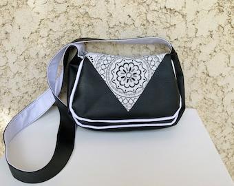 Little Handbag imitation leather and cotton