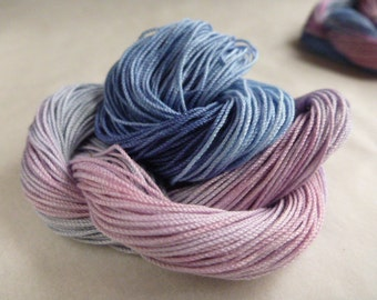 "Size 10, 15, 20, 40, 50, 70, Hand dyed thread, HDT,multycolor, HDT, tatting, crochet, embroider, lacemaking, craft thread, ""DevonRose"""